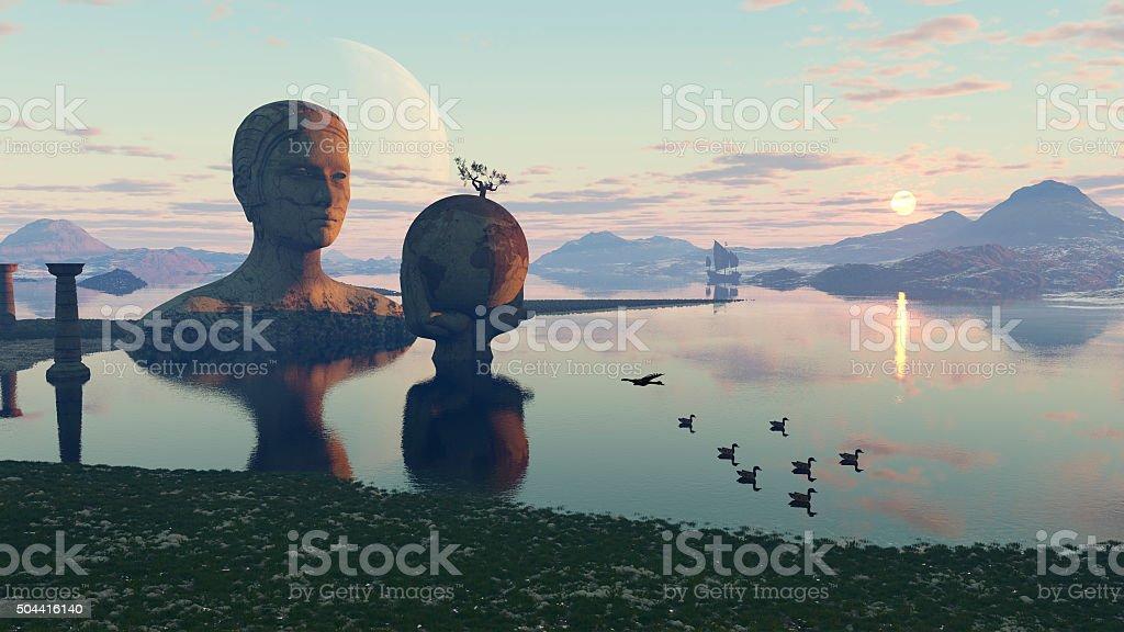 El santuario de Gaea stock photo