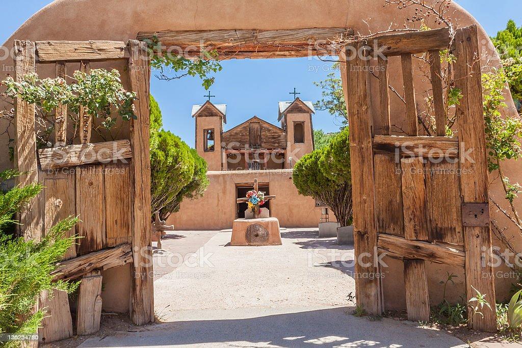 El Santuario do Chimayo church in New Mexico stock photo