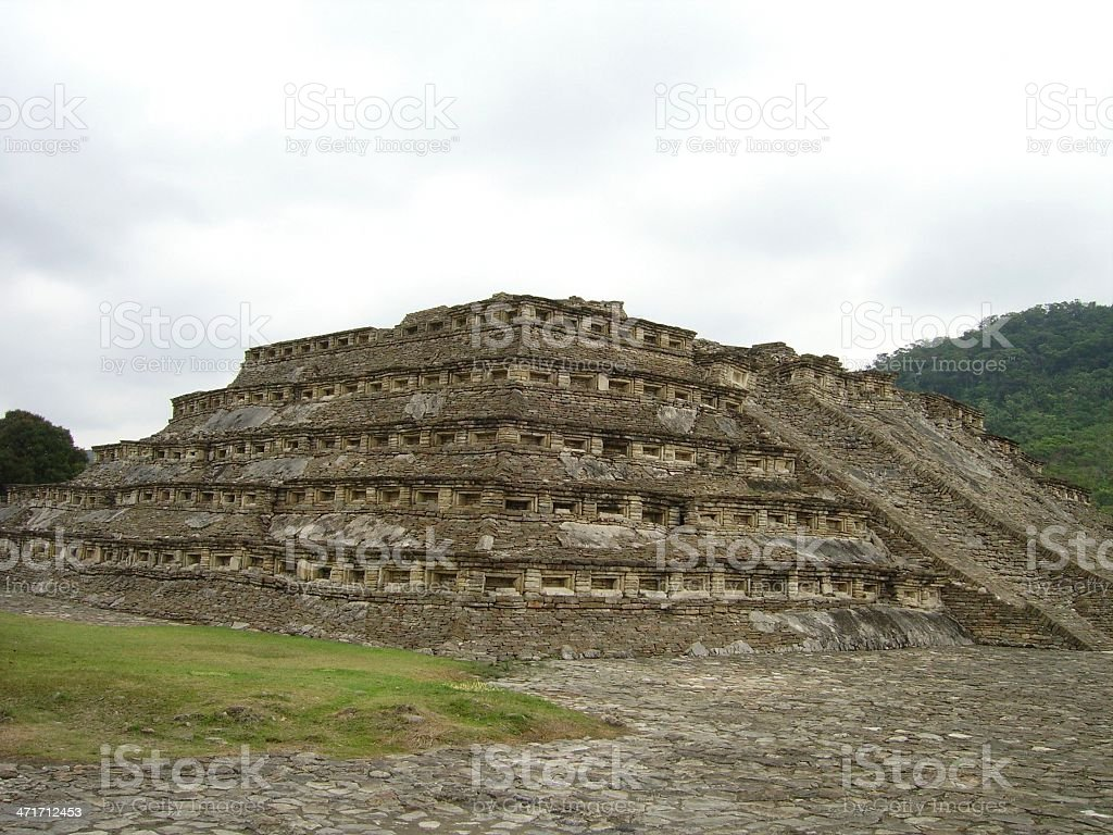 El Tajin, building C - Mexico royalty-free stock photo