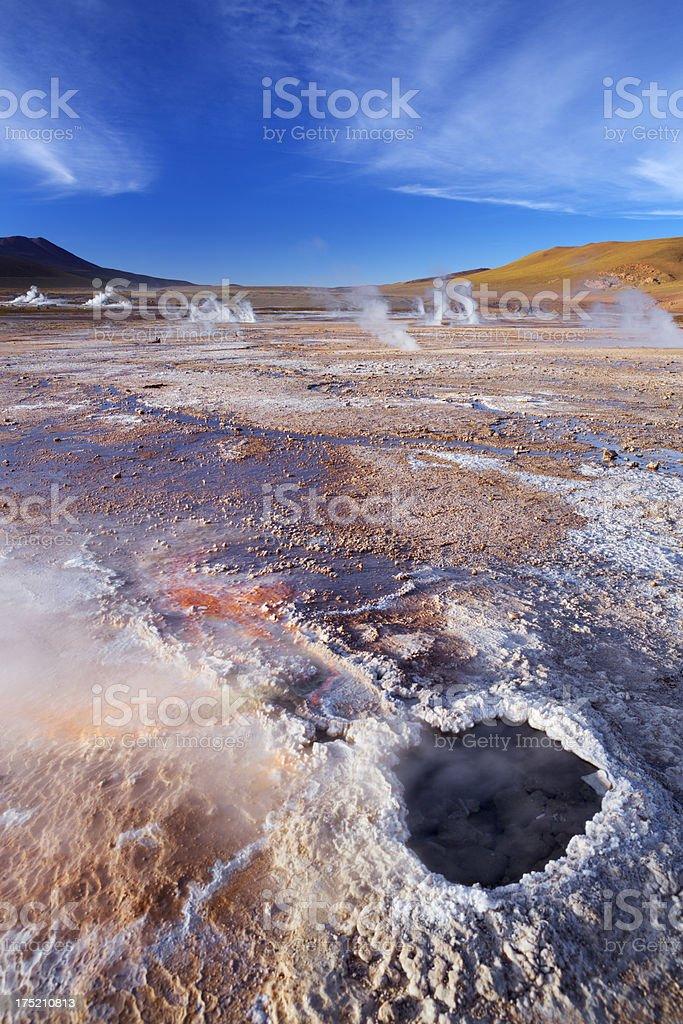 El Tatio Geysers in the Atacama Desert, northern Chile stock photo