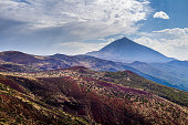 El Teide National Park with Teide mountain in the background