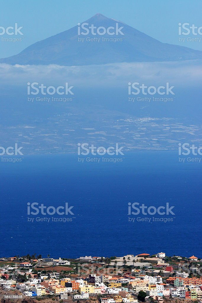 El Teide on Tenerife seen from La Gomera stock photo