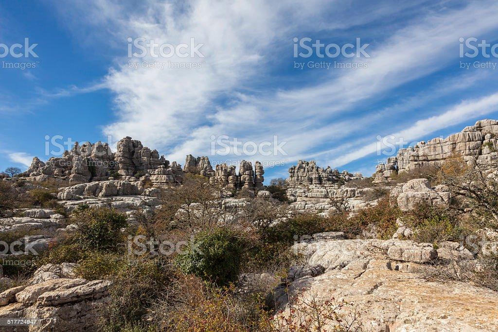 El Torcal National Park stock photo