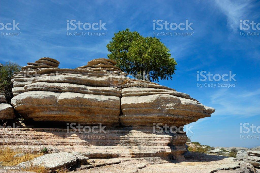 El Torcal National Park, Spain stock photo