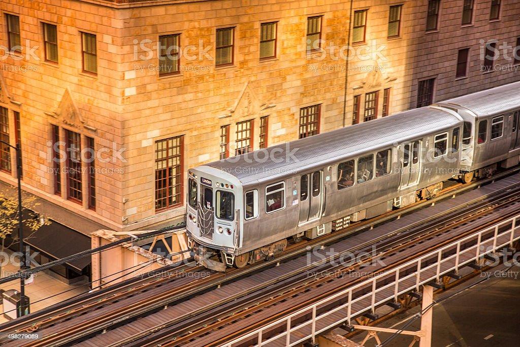 El train rails transportation stock photo