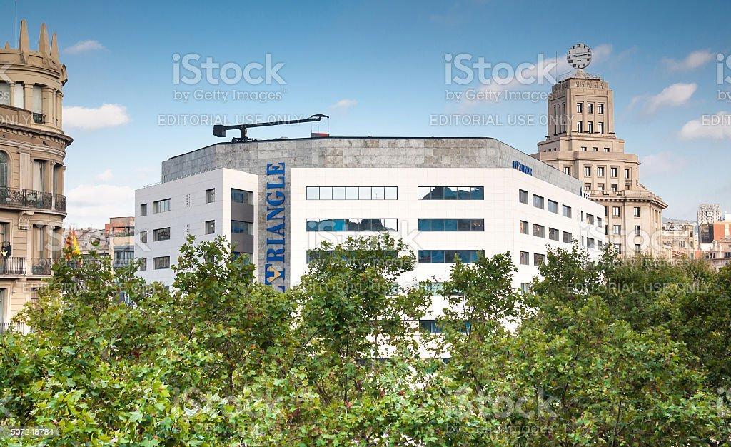El Triangle building stock photo