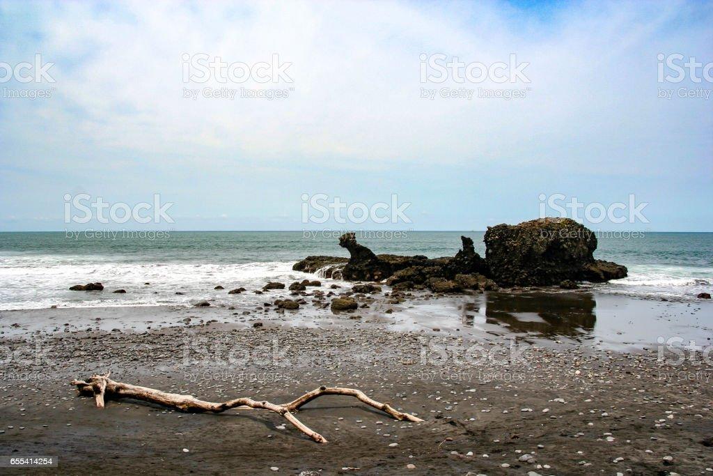El Tunco beach in El Salvador, Central America stock photo