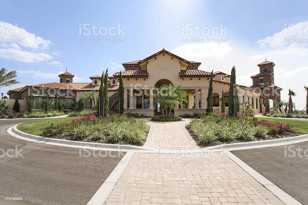 Elaborate Country Club stock photo