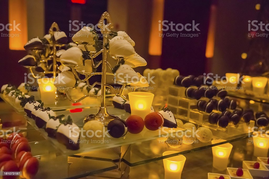 Elaborate Dessert Display royalty-free stock photo