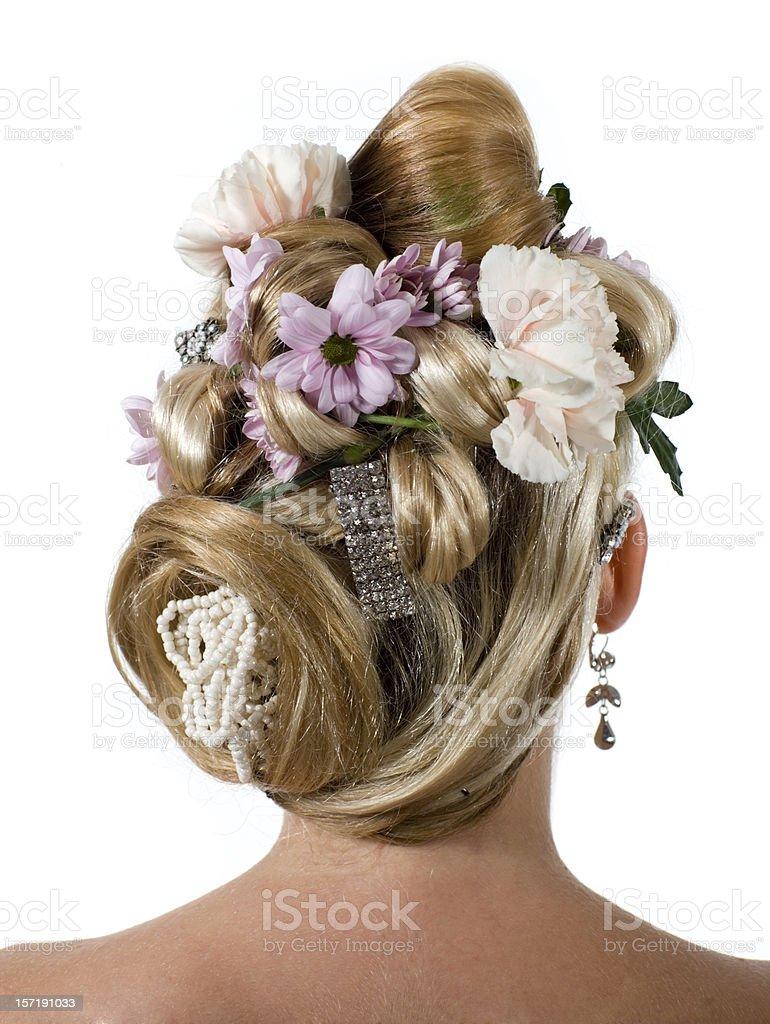 Elaborate hairdo royalty-free stock photo