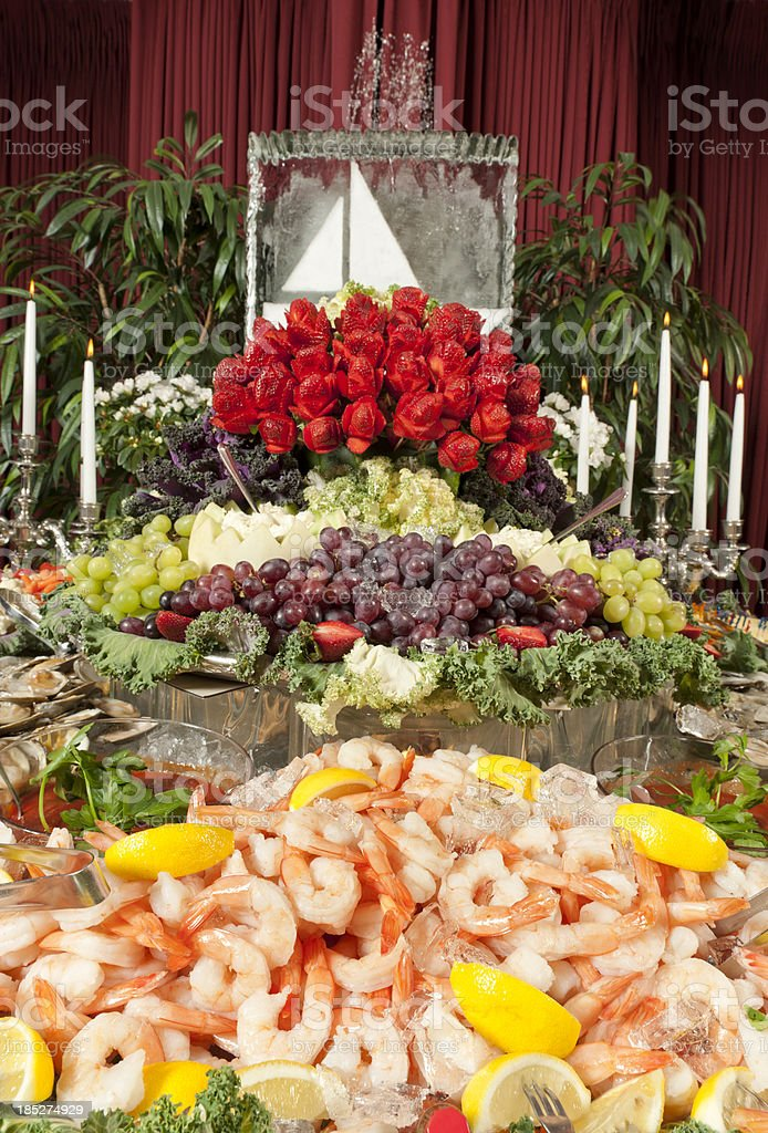 Elaborate Seafood Buffet stock photo