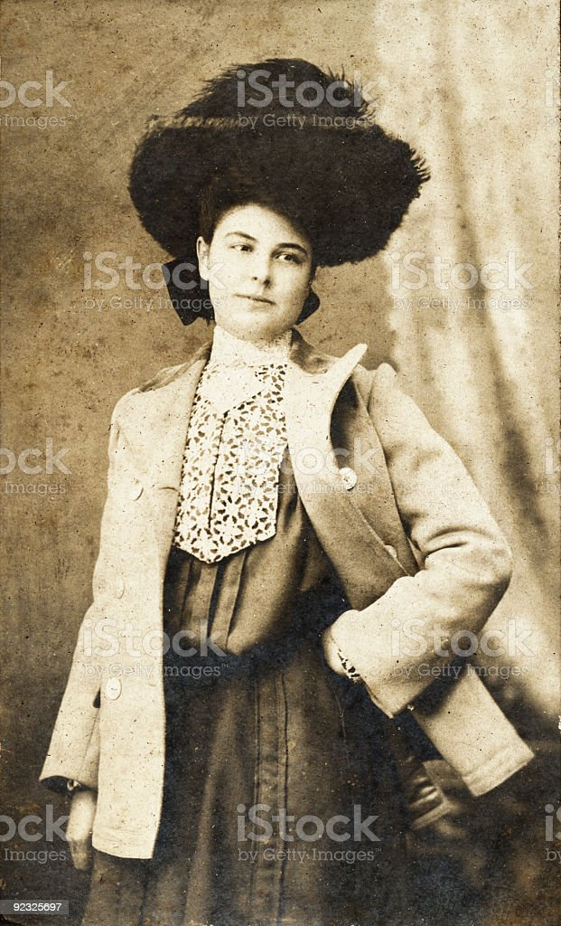 elaborate woman royalty-free stock photo