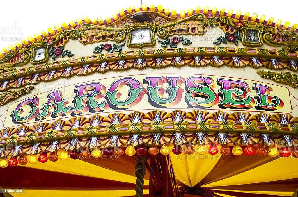 elaborately designed carousel stock photo
