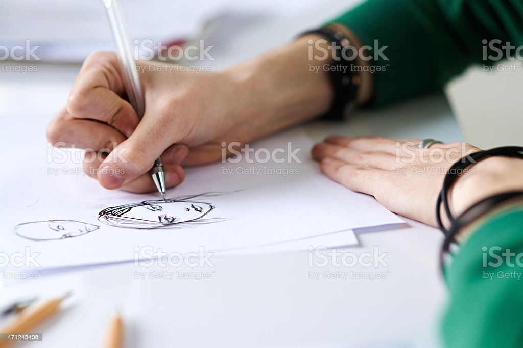 Elaboration of details stock photo