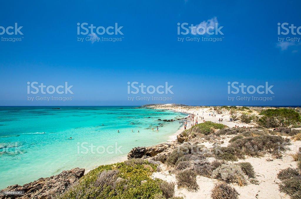 Elafonissi Lagoon, Crete Island, Greece stock photo