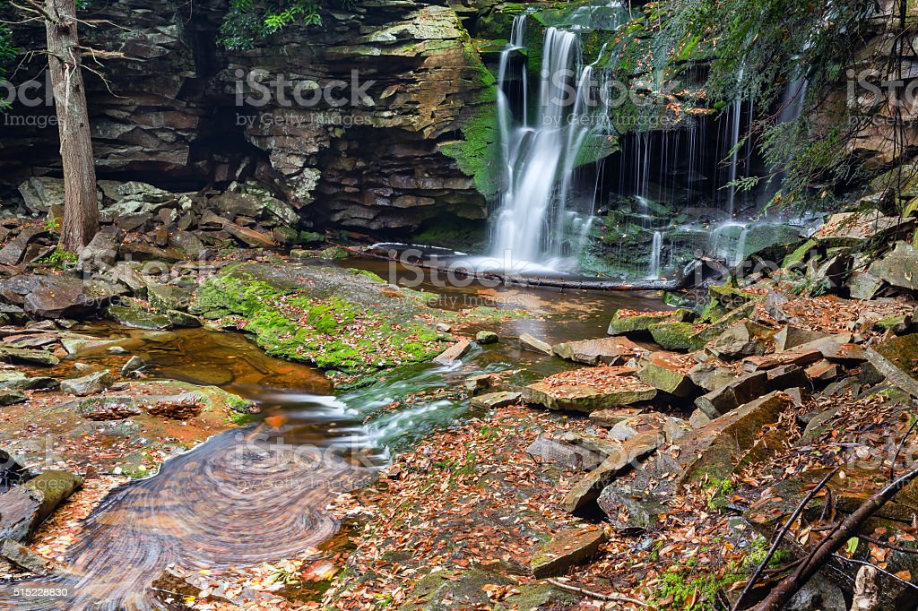 Elakala Falls - Canaan Valley, West Virginia stock photo