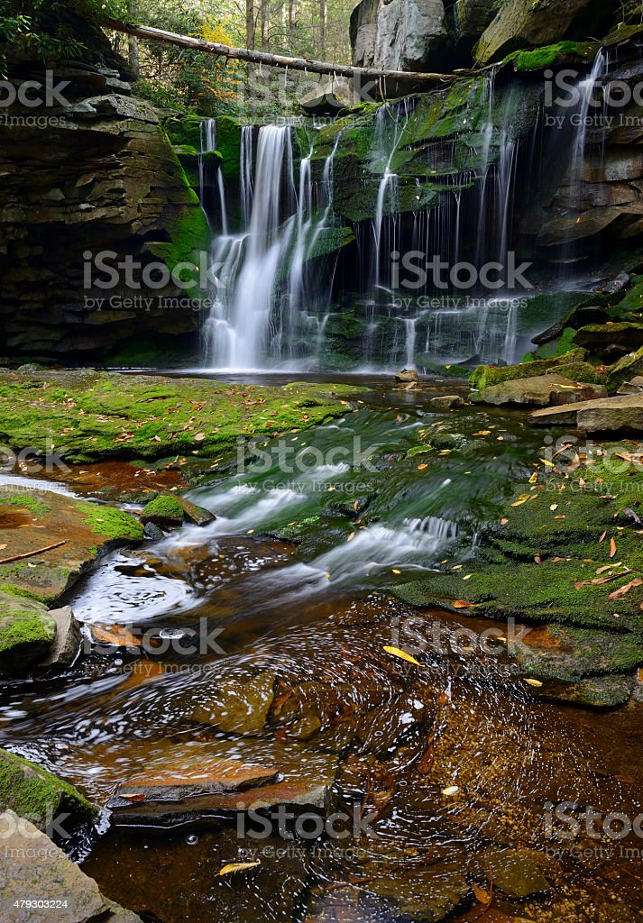 Elakala Falls in West Virginia in Autumn stock photo