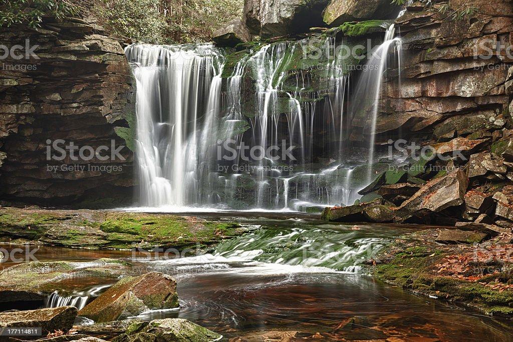 Elakala Falls in West Virginia stock photo