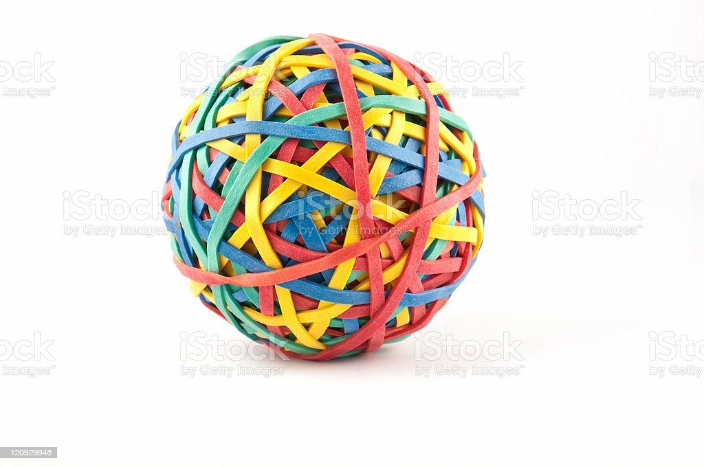 Elastic band ball stock photo