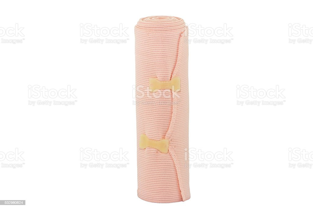 Elastic bandage isolate on white background stock photo