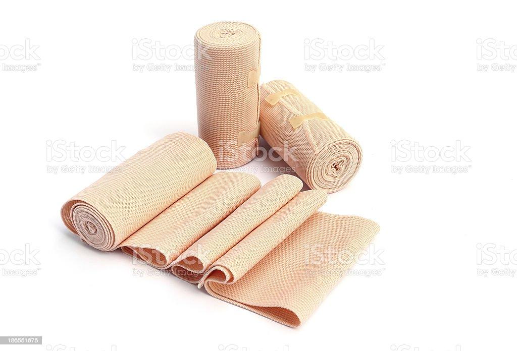 Elastic bandage isolated on white royalty-free stock photo