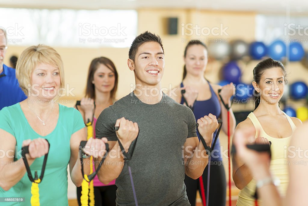 Elastic Training stock photo