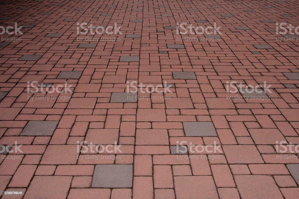 Elasticity brick ground stock photo