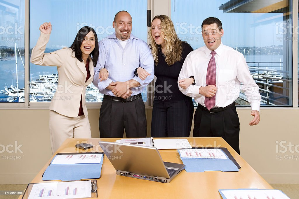 Elated Business Team royalty-free stock photo