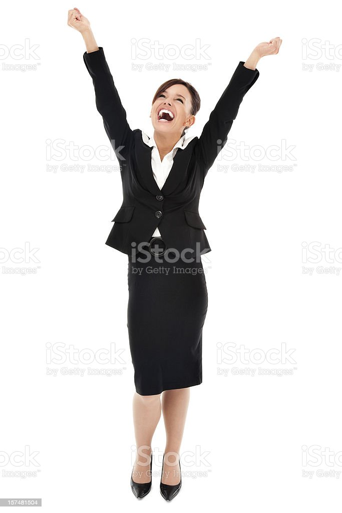 Elated Businesswoman royalty-free stock photo