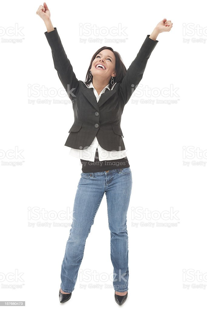 Elated Businesswoman royalty-free stock photo