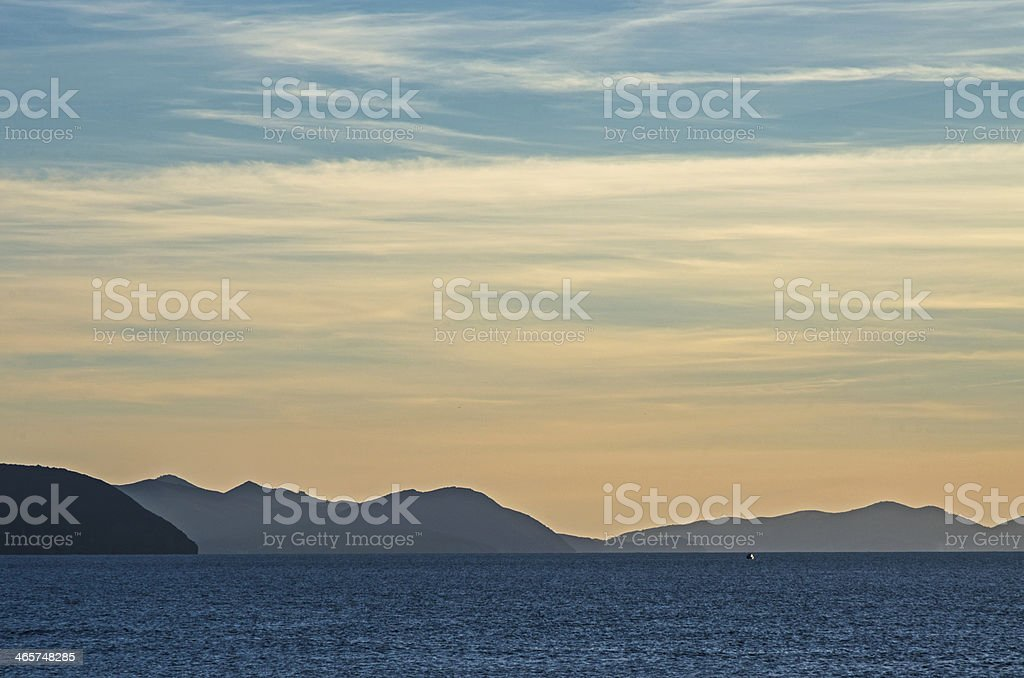 Elba island on sunset royalty-free stock photo