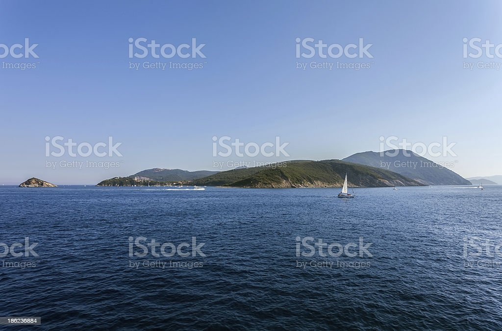 Elba Island - Portoferraio harbor entrance royalty-free stock photo