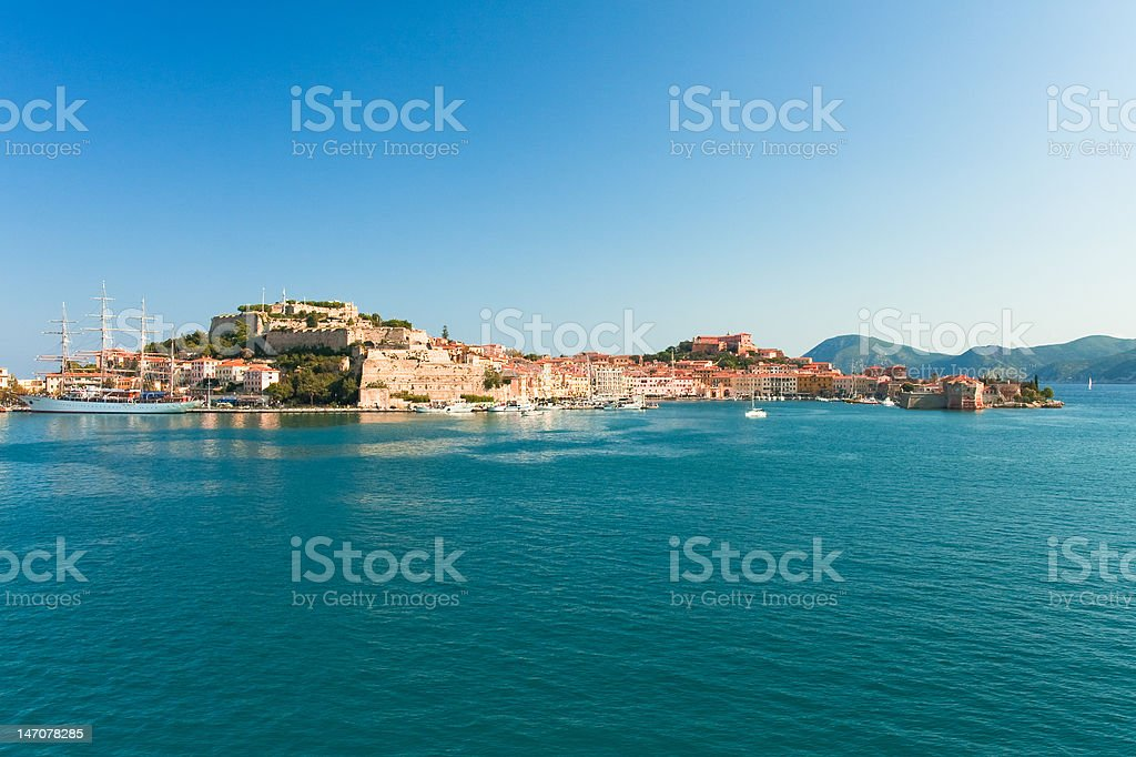 Elba Island - view at Portoferraio stock photo