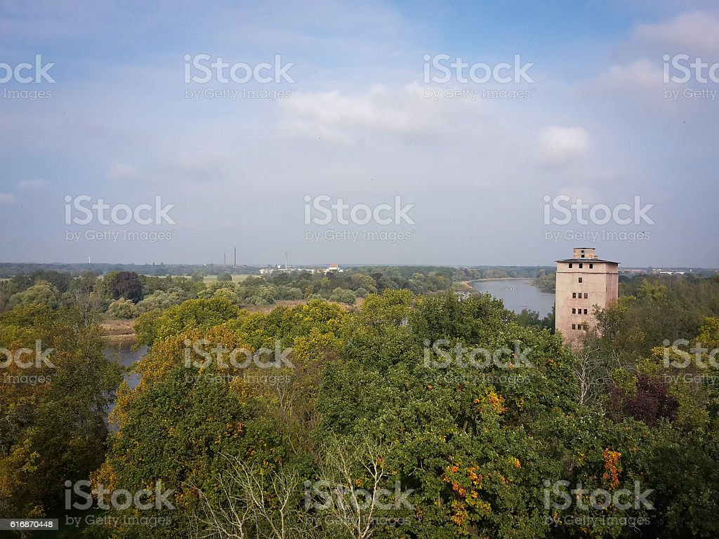 Elbe River Dessau-Rosslau stock photo