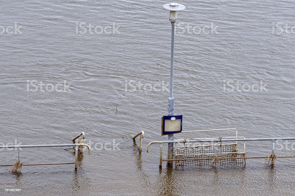 Elbe River great flood 2013 at Tangerm?nde stock photo