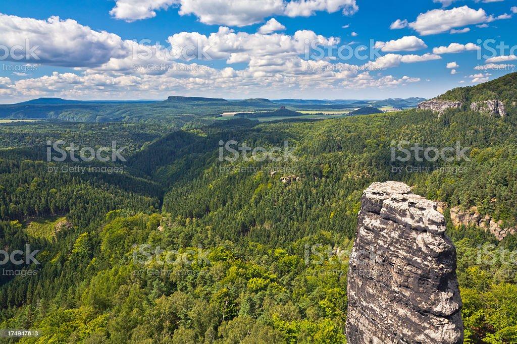 Elbe Sandstone Mountains stock photo