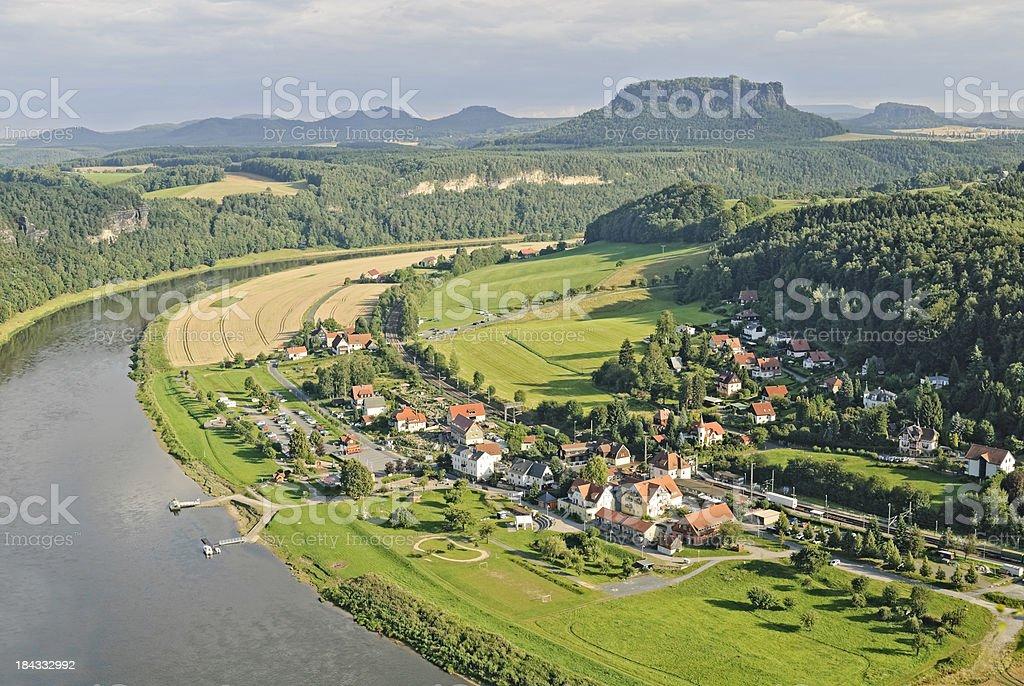 Elbe Valley stock photo