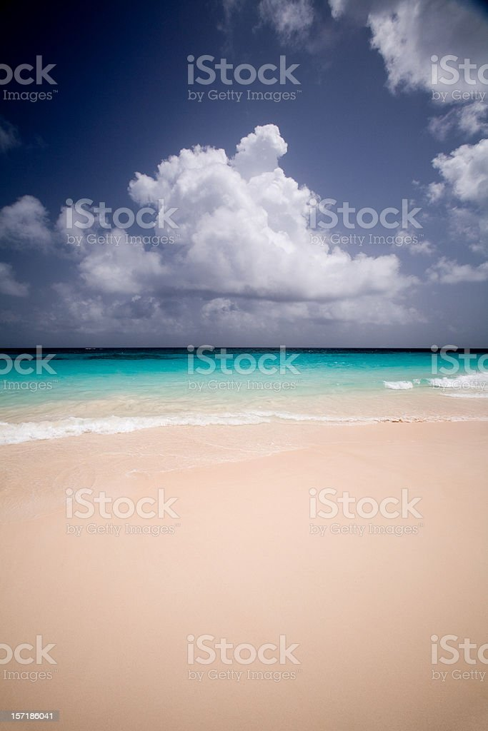 Elbow Beach in Bermuda royalty-free stock photo