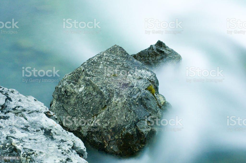 Elbow Falls at Nightfall royalty-free stock photo