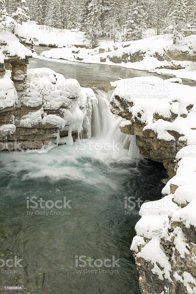 Elbow Falls in Kananaskis Country royalty-free stock photo