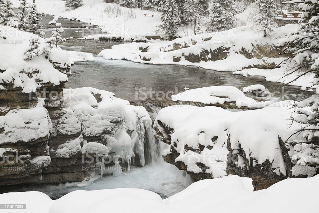 Elbow Falls royalty-free stock photo
