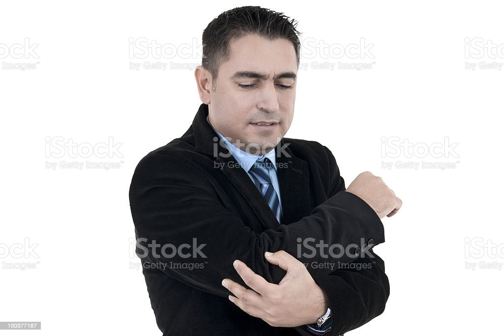 Elbow In Pain stock photo