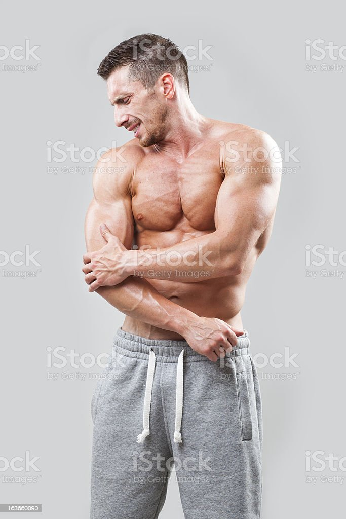 Elbow in pain royalty-free stock photo