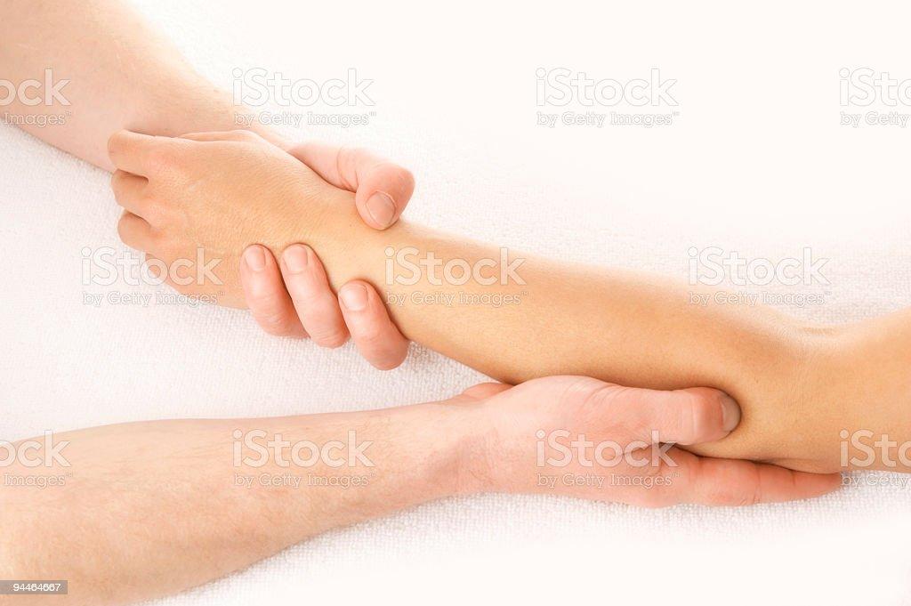 elbow massage stock photo