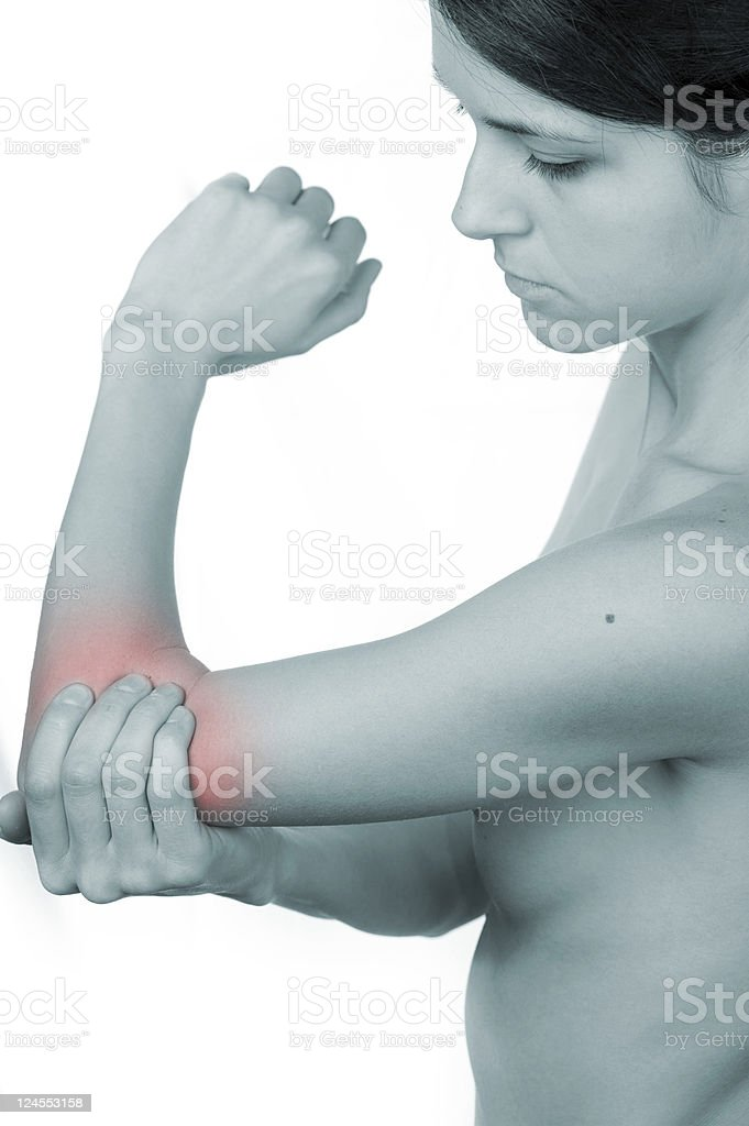 Elbow pain royalty-free stock photo