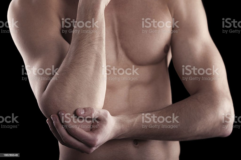 elbow pain royalty-free stock photo