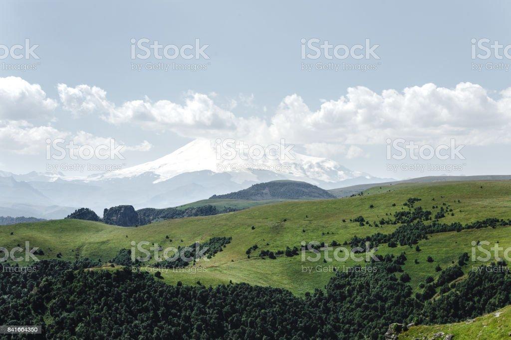 Elbrus, Mountains In Summer. Caucasus, Russia stock photo