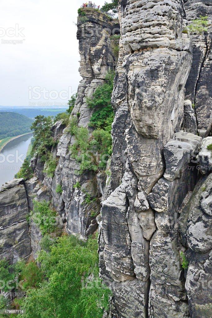 Elbsandstein Mountains , Dresden, Saxony, Bastei Rock stock photo