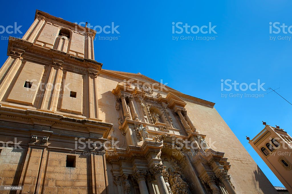 Elche Elx Basilica de Santa Maria church in Alicante Spain stock photo