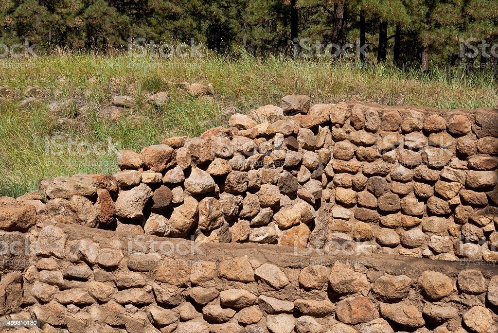 Elden Pueblo Ruins stock photo